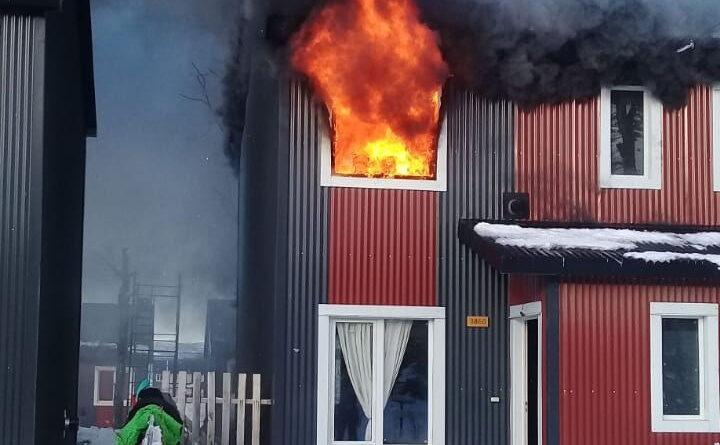 Incendio de una vivienda en Barrio río Pipo, Ushuaia