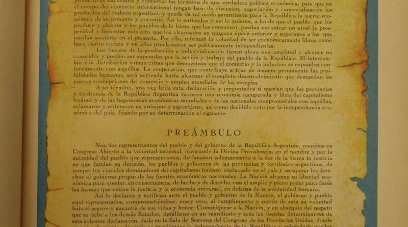 Acta de la Declaración de la Independencia Económica 1947