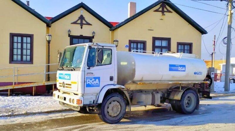 Camión aguatero de la Municipalidad de Río Grande