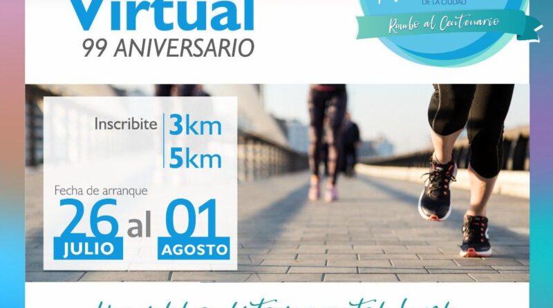 Carrera virtual 99° aniversario de Río Grande