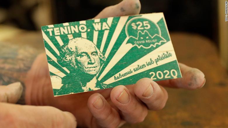 Dólar de madera de Tenino, Estados Unidos