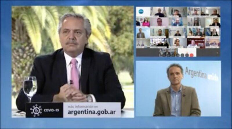 Alberto Fernández, Gabriel Katopodis e intendentes patagónicos en videoconferencia