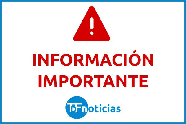 Placa Información Importante TDF Noticias
