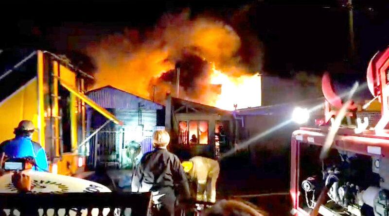 Incendio en Pasaje Namuncurá en Río Grande
