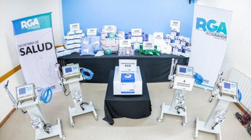 Termociclador PCR, respiradores e insumos