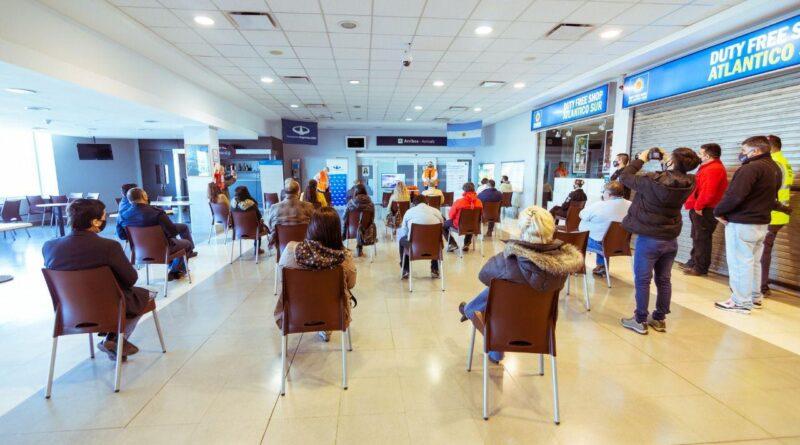 Presentación de protocolos de sanidad en el aeropuerto de Río Grande