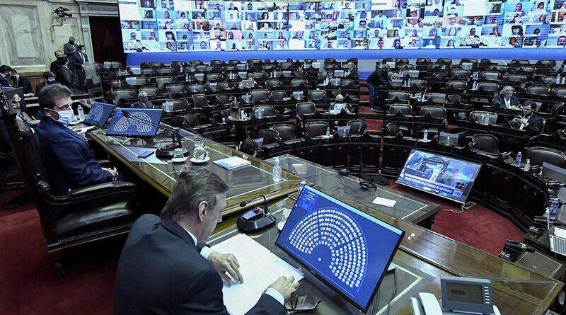 Sesión por el aporte solidario en la Cámara de Diputados