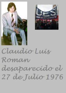 Claudio Luis Román, estudiante, militante de la UES