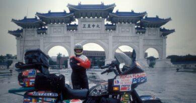 Emilio Scotto realizó el viaje más largo en motocicleta