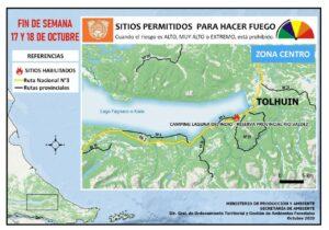 Sitios permitidos para hacer fuego Tolhuin 17/18 octubre