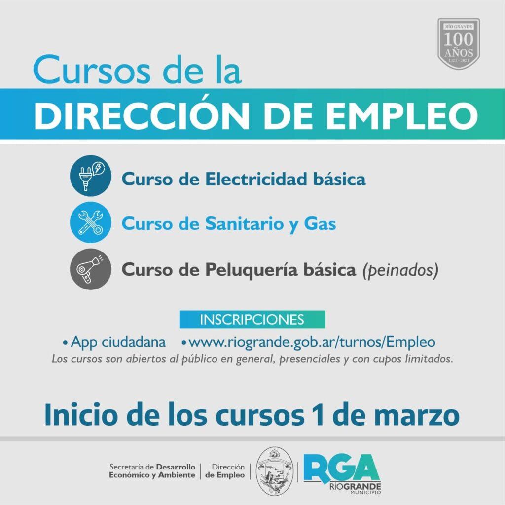 Cursos de la Dirección de Empleo que comienzan el 1 de marzo