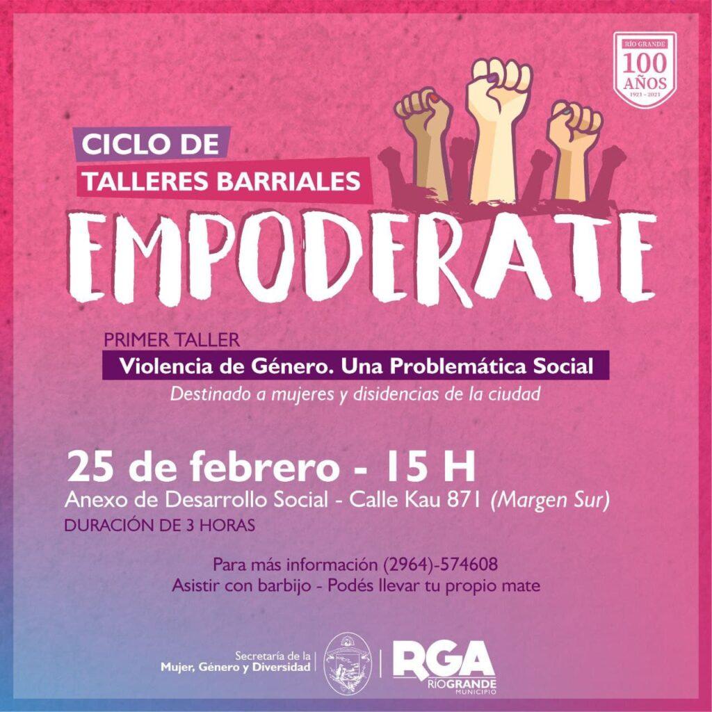 Talleres barriales Empoderate, 25 de febrero 2021, Río Grande