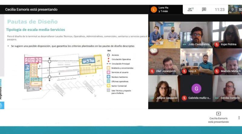Videoconferencia de funcionarios de Río Grande, Ushuaia, Río Gallegos y del ministerio de transporte de Nación