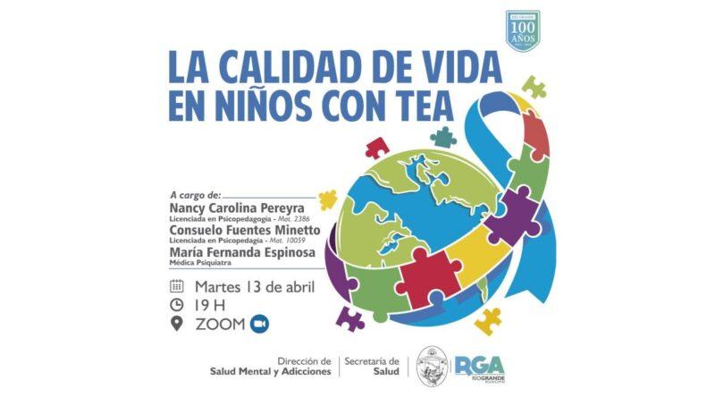 Charla virtual La calidad de vida en niños con TEA