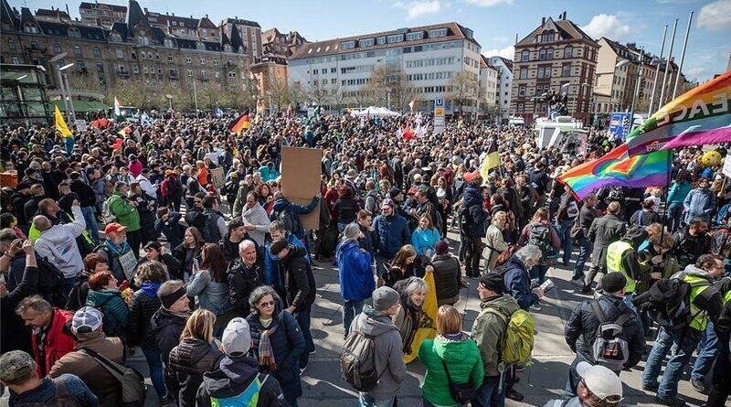 Marcha anticuarentena en Alemania