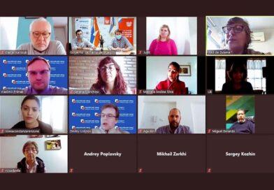 Videoconferencia de Melella y funcionarios con representantes del Fondo Común de Inversión Ruso