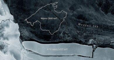 Iceberg que se desprendió de la Antártida, mayo 2021
