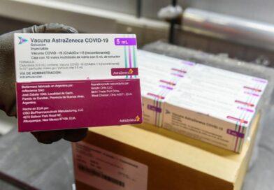 Cajas de vacuna covid AstraZeneca