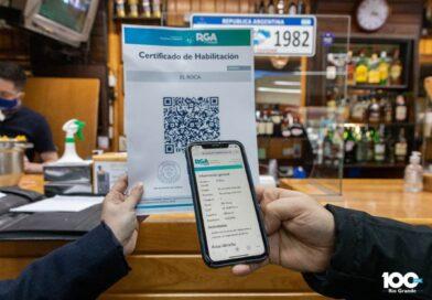 Certificado de habilitación con código QR, Río Grande