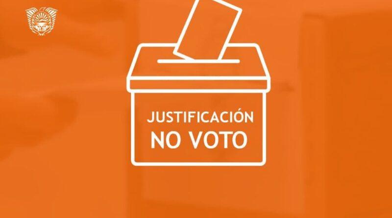 Justificación del no voto, elecciones 2021