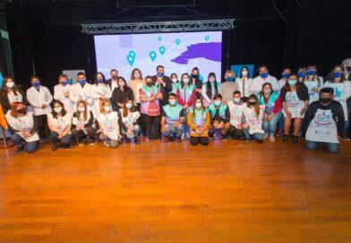 Vuoto, funcionarios, trabajadores en la presentación del programa Filomena Grasso